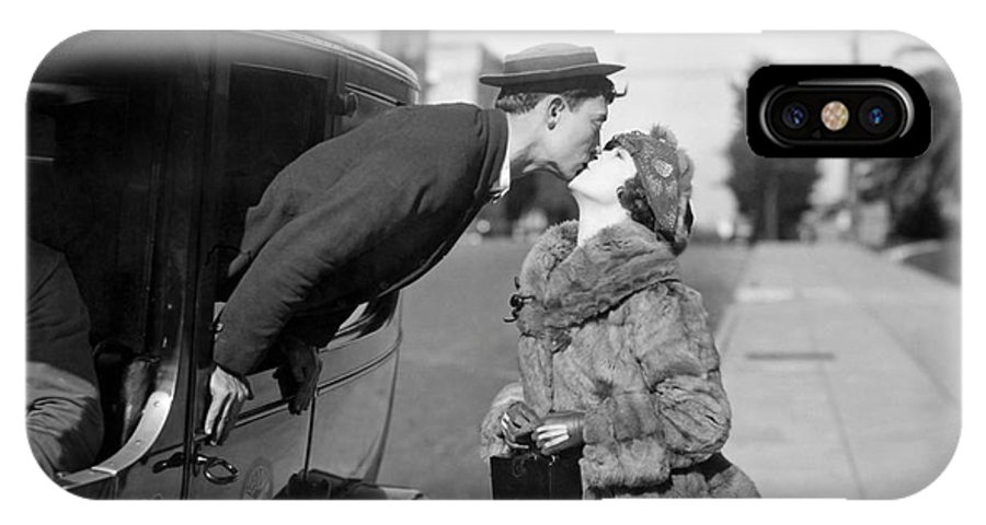 1921 IPhone X Case featuring the photograph Silent Film Still: Kissing by Granger