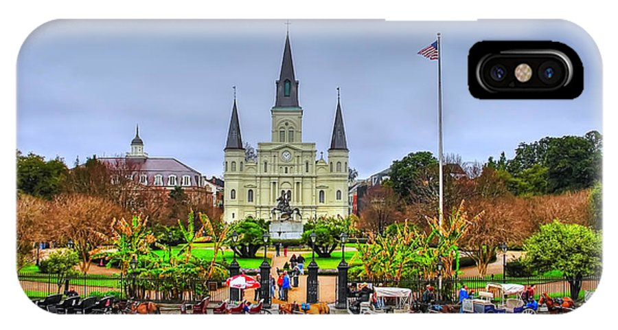 St. Louis Cathedral Framed Prints IPhone X Case featuring the photograph St. Louis Cathedral by Vladimir Rayzman