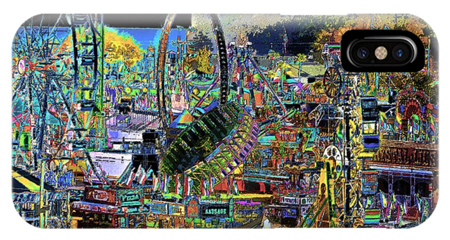 Art IPhone X Case featuring the painting State Fair by David Lee Thompson