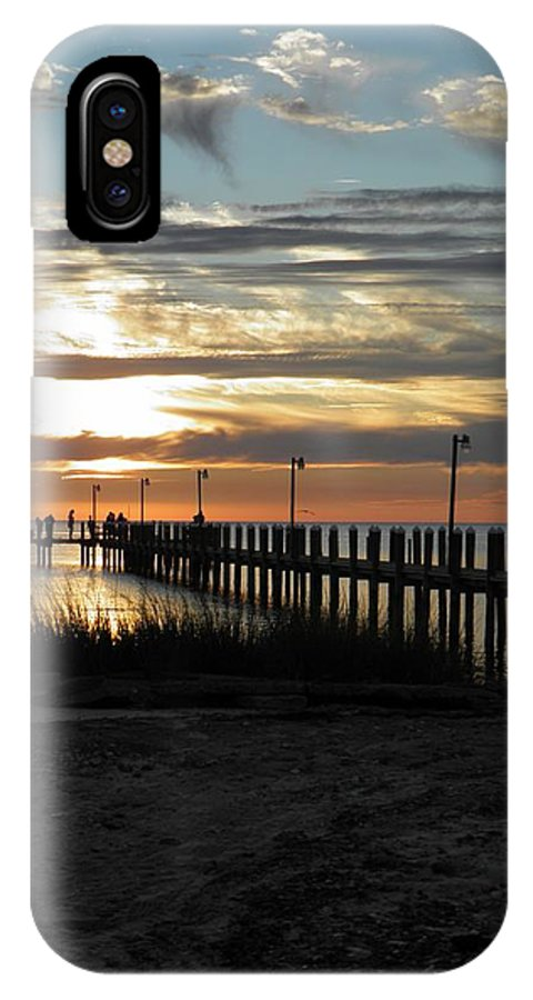 Sunset IPhone X Case featuring the photograph Sunset Cape Charles Virginia by Sven Migot