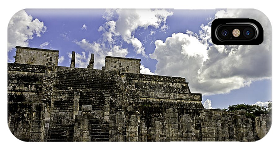 Chichen Itza IPhone X Case featuring the photograph Temple Of The Warriors by Ken Frischkorn