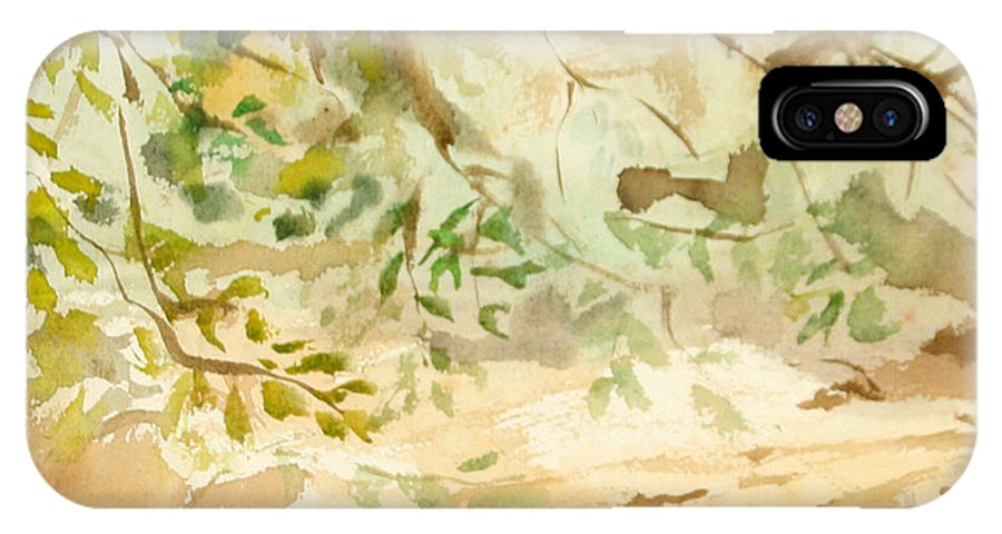 Watercolor IPhone X Case featuring the painting The Breeze Between by Daun Soden-Greene