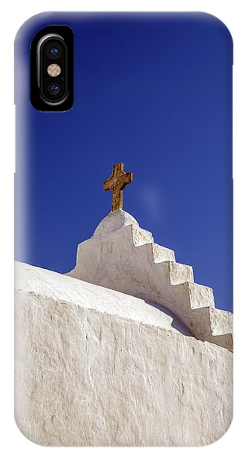 Church Dome IPhone X Case featuring the photograph The Cross by Joana Kruse