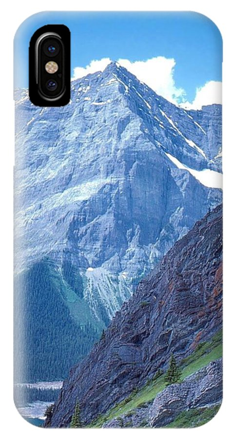 Mountains IPhone X Case featuring the photograph The Rocks by Jim Sauchyn