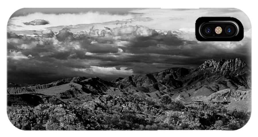 Landscape IPhone X / XS Case featuring the photograph The Sky Speaks by Jephyr Art