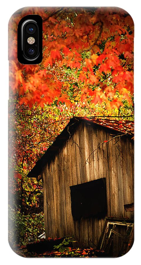 Wood Shed IPhone X Case featuring the photograph The Wood Shed by Randall Branham