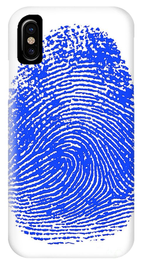 Thumbprint IPhone X Case featuring the photograph Thumbprint by Science Source
