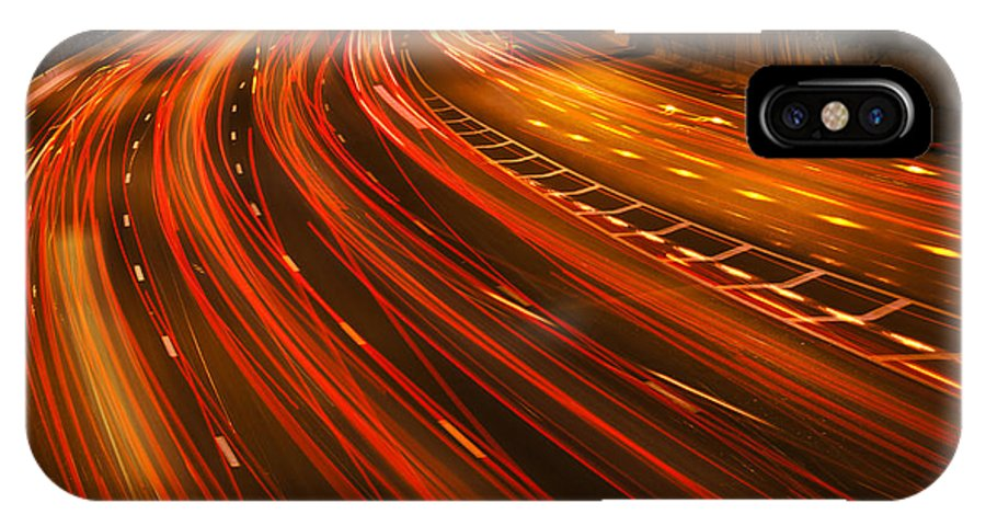 Trail IPhone X Case featuring the digital art Traffic River by Eldad Carin