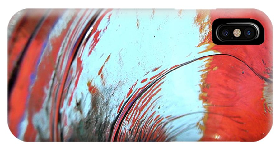 Red IPhone X Case featuring the photograph Tsunami 2 by Stephanie Moore