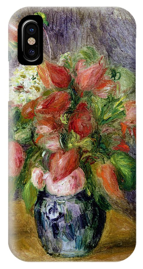 Vase IPhone X Case featuring the painting Vase Of Flowers by Pierre Auguste Renoir