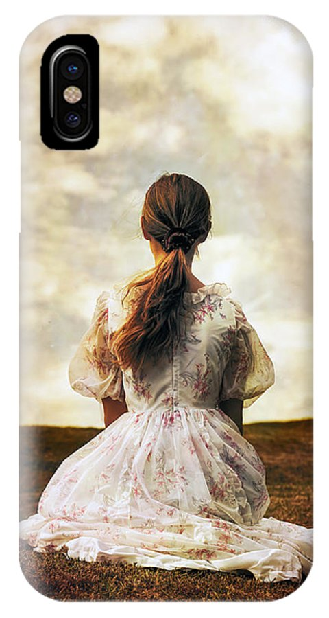 Female IPhone X Case featuring the photograph Woman On A Meadow by Joana Kruse