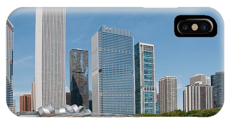 Chicago IPhone X Case featuring the digital art Chicago City Scenes by Carol Ailles