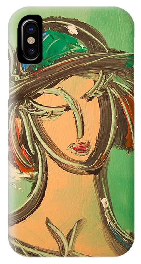 Landscape Framed Prints IPhone X Case featuring the mixed media Girl by Mark Kazav