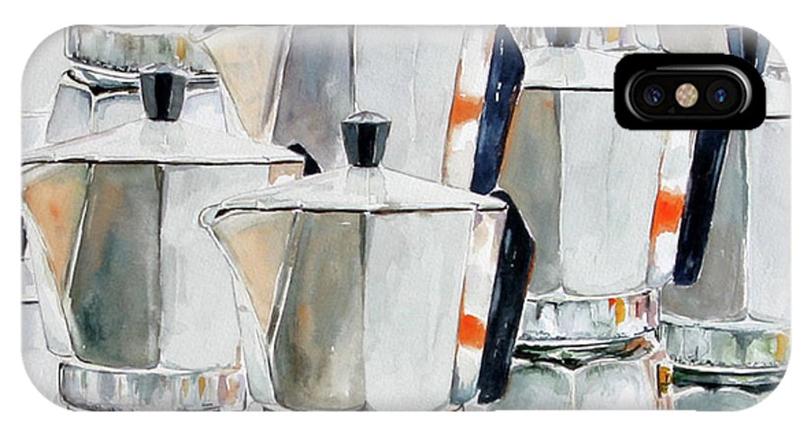 Still Life IPhone X / XS Case featuring the painting 11 Moka by Giovanni Marco Sassu