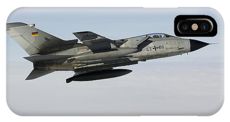 Germany IPhone X Case featuring the photograph A Luftwaffe Tornado Ids Over Northern by Gert Kromhout
