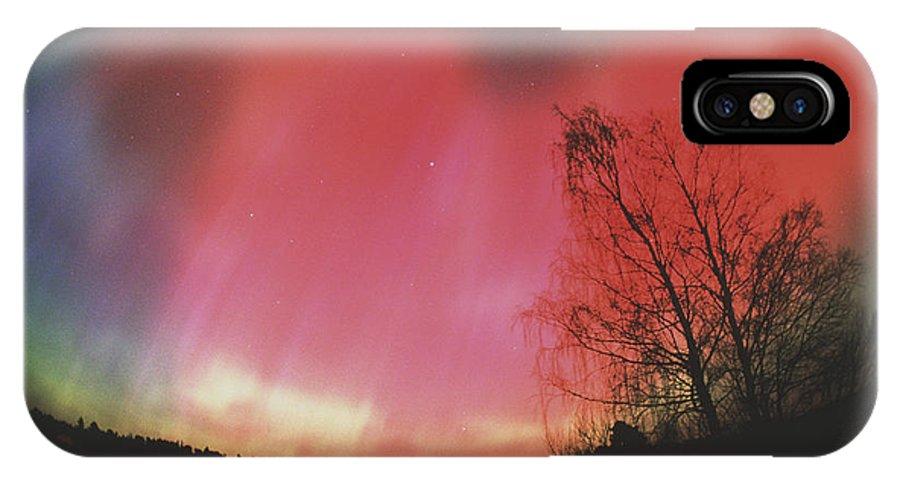 Aurora Borealis IPhone X / XS Case featuring the photograph Aurora Borealis by Pekka Parviainen