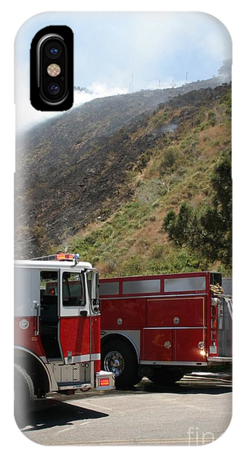 Ash IPhone X Case featuring the photograph Barnett Fire by Henrik Lehnerer