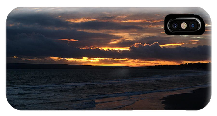 Sunset IPhone X Case featuring the photograph Bournemouth Sunset by Chris Day