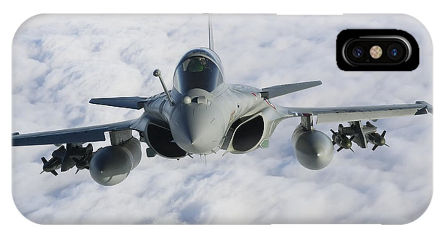 French Air Force IPhone X Case featuring the photograph Dassault Rafale B Of The French Air by Gert Kromhout