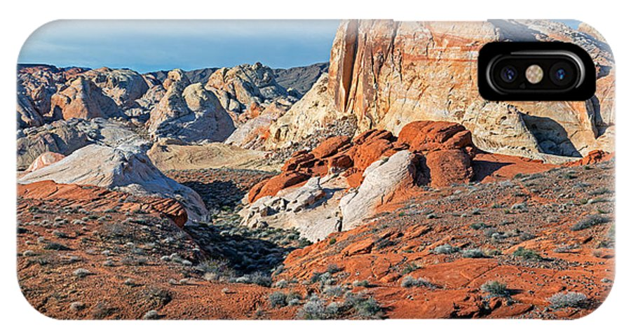 Arid IPhone X Case featuring the photograph Valley Of Fire by Dean Pennala