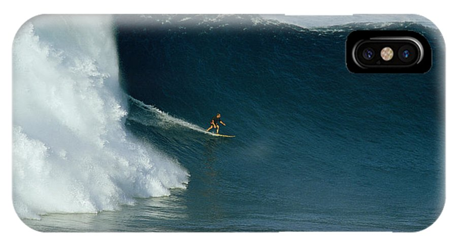 Sports IPhone X / XS Case featuring the photograph A Surfer Rides A Powerful Wave by Patrick Mcfeeley