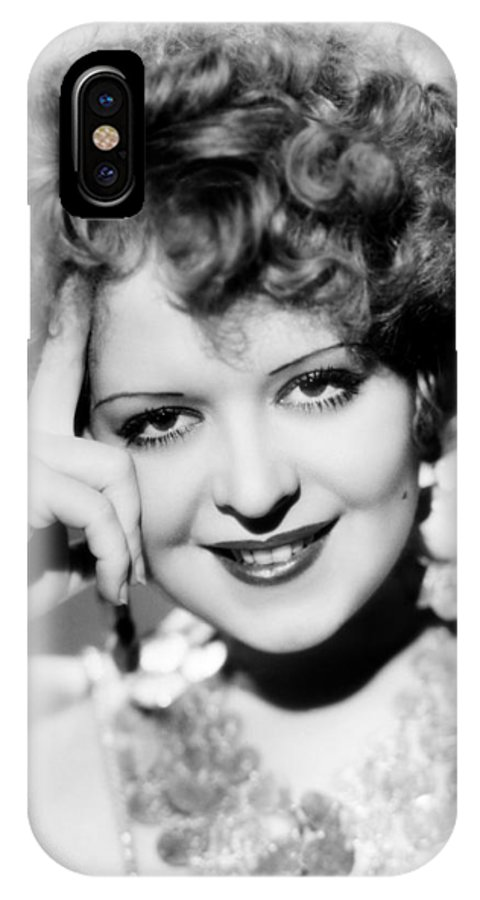 1930s IPhone X Case featuring the photograph Clara Bow (1905-1965) by Granger