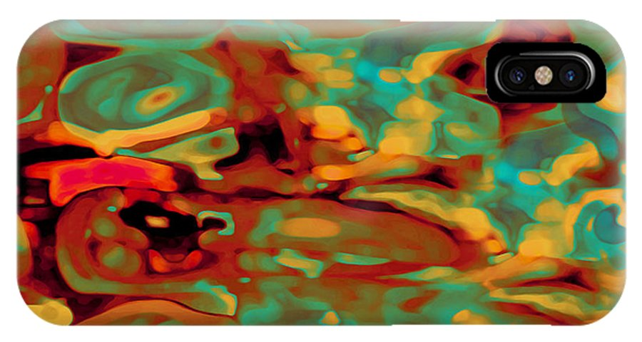 Digital Graphic IPhone X Case featuring the digital art Pastel by Mihaela Stancu