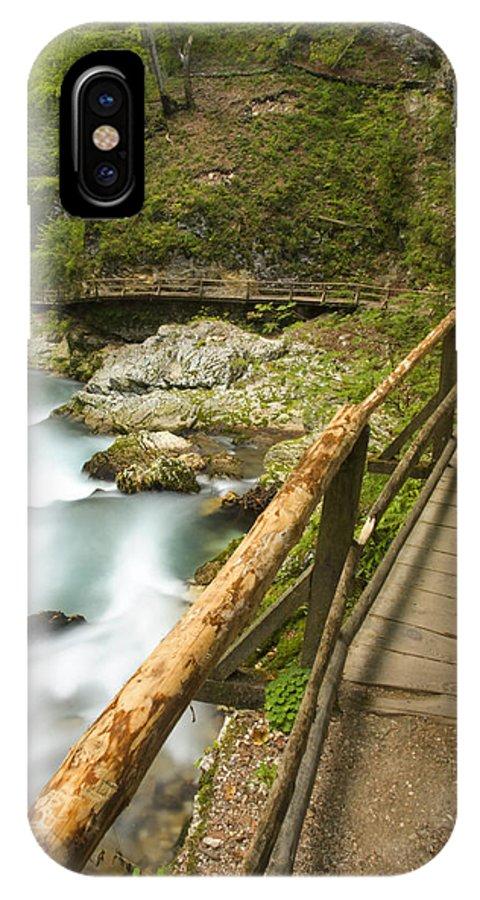 Soteska IPhone X Case featuring the photograph The Soteska Vintgar Gorge by Ian Middleton