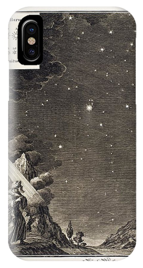 18th Century IPhone X / XS Case featuring the photograph 1731 Johann Scheuchzer Star Magnitudes by Paul D Stewart