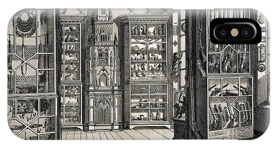 Cabinet Of Curiosities IPhone X Case featuring the photograph 1788 Richard Greene's Museum At Lichfield by Paul D Stewart