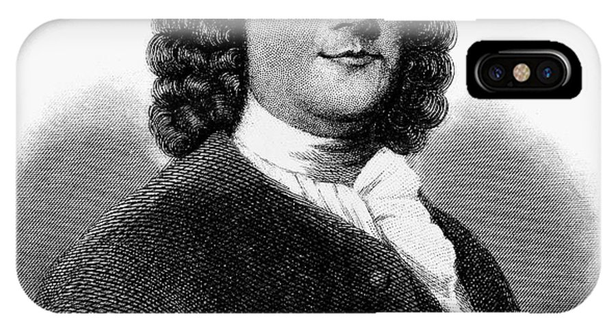 18th Century IPhone X Case featuring the photograph Benjamin Franklin (1706-1790) by Granger
