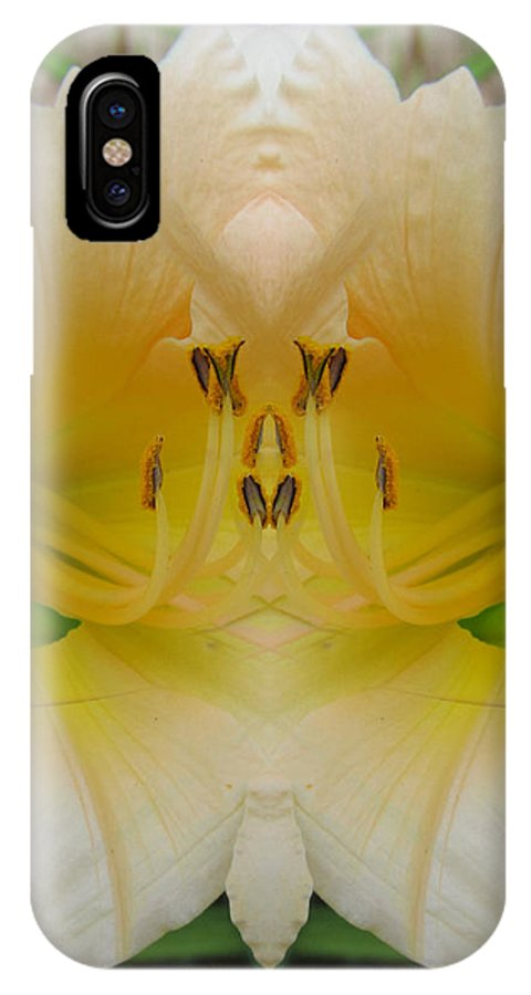 Color Blend IPhone X Case featuring the digital art Lily Fantasy by Michele Caporaso