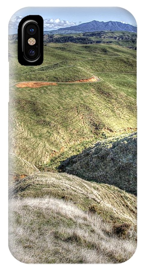 Countryside IPhone X Case featuring the photograph Landscape by Les Cunliffe