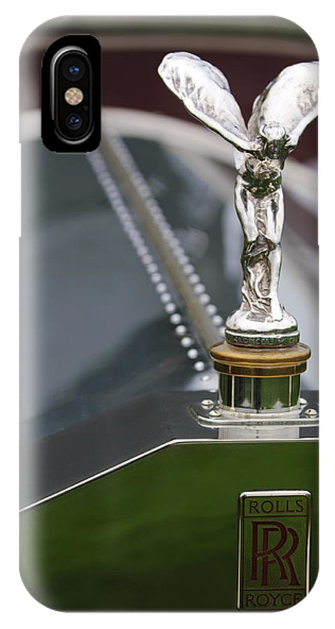 1915 Rolls-royce Silver Ghost Maythorn Torpedo IPhone X Case featuring the photograph 1915 Rolls-royce Silver Ghost Maythorn Torpedo Hood Ornament by Jill Reger