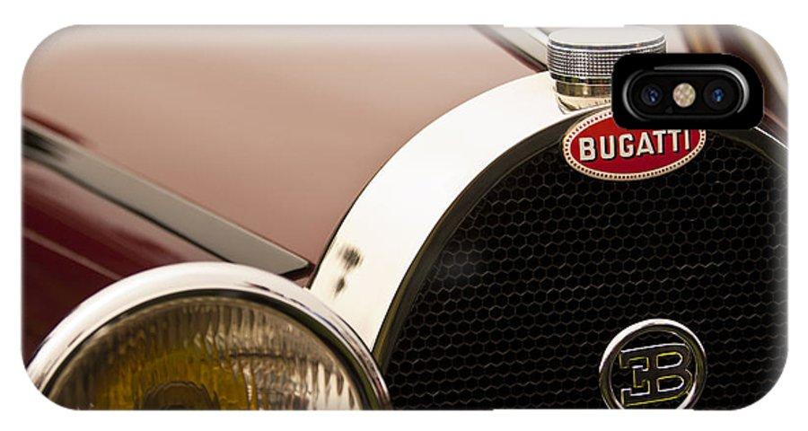 1931 Bugatti Type 55 Roadster IPhone X Case featuring the photograph 1931 Bugatti Type 55 Roadster Grille Emblem by Jill Reger