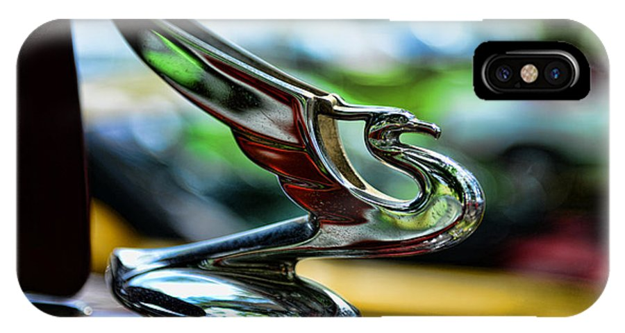 1934 Chevrolet Flying Eagle Hood Ornament IPhone X Case featuring the photograph 1934 Chevrolet Flying Eagle Hood Ornament - 2 by Paul Ward