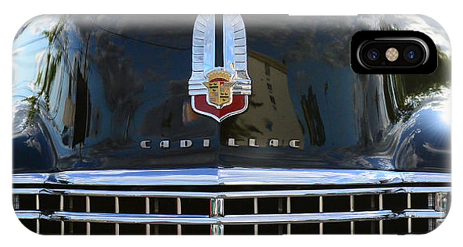 1941 Cadillac IPhone X Case featuring the photograph 1941 Cadillac Grill by Paul Ward