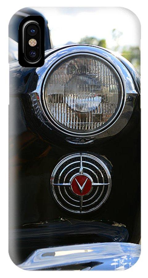 1941 Cadillac Headlight IPhone X Case featuring the photograph 1941 Cadillac Headlight by Paul Ward