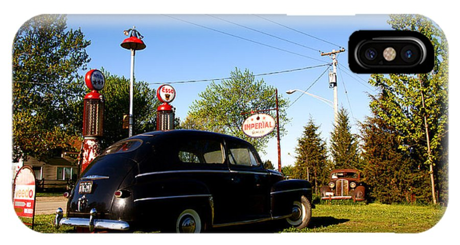 Car IPhone X Case featuring the photograph 1947 Ford by Cale Best