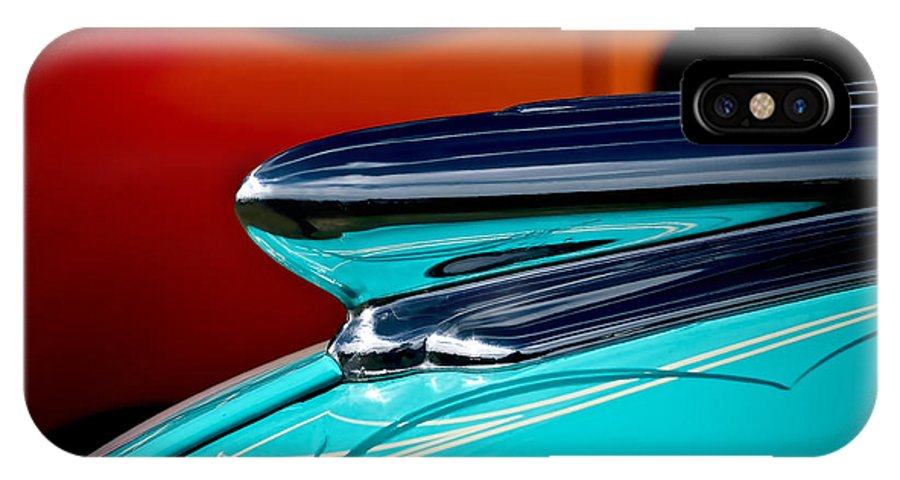 1948 Chevy IPhone X Case featuring the photograph 1948 Chevy Hood Ornament by Douglas Pittman