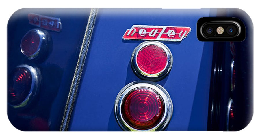 1949 Healey Silverstone IPhone X Case featuring the photograph 1949 Healey Silverstone Taillight Emblem by Jill Reger