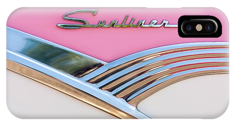 Clarence Holmes IPhone X Case featuring the photograph 1956 Ford Fairlane Sunliner by Clarence Holmes