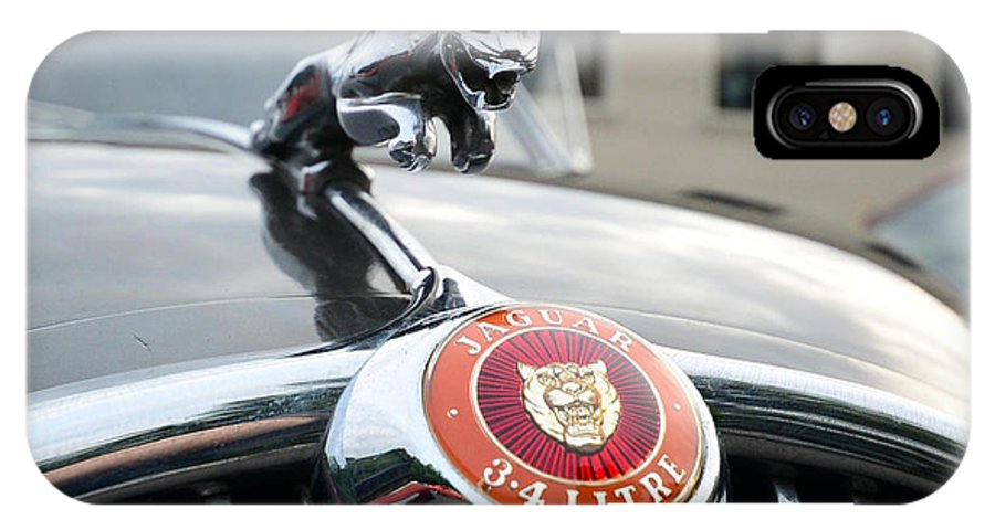 Jaguar Grill IPhone X Case featuring the photograph 1963 Jaguar Emblem by Paul Ward