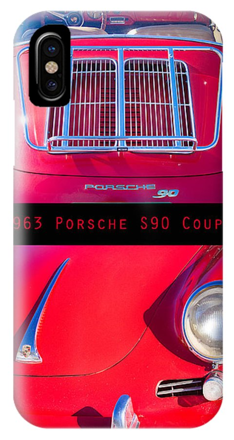 1963 IPhone X / XS Case featuring the photograph 1963 Red Porsche S90 Coupe Poster by James BO Insogna