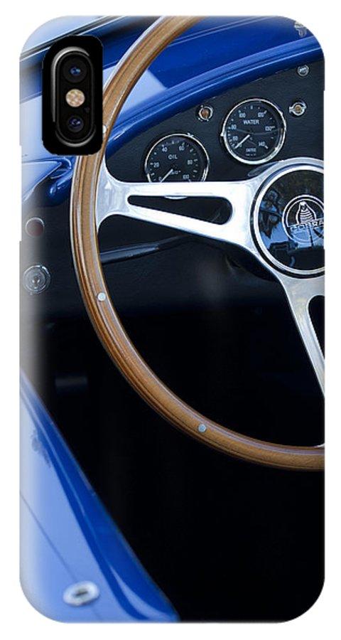 1965 Cobra Sc IPhone X / XS Case featuring the photograph 1965 Cobra Sc Steering Wheel 2 by Jill Reger