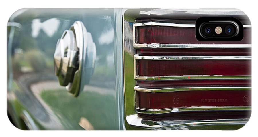 1966 Plymouth Satellite Tail Light IPhone X Case featuring the photograph 1966 Plymouth Satellite Tail Light by Glenn Gordon