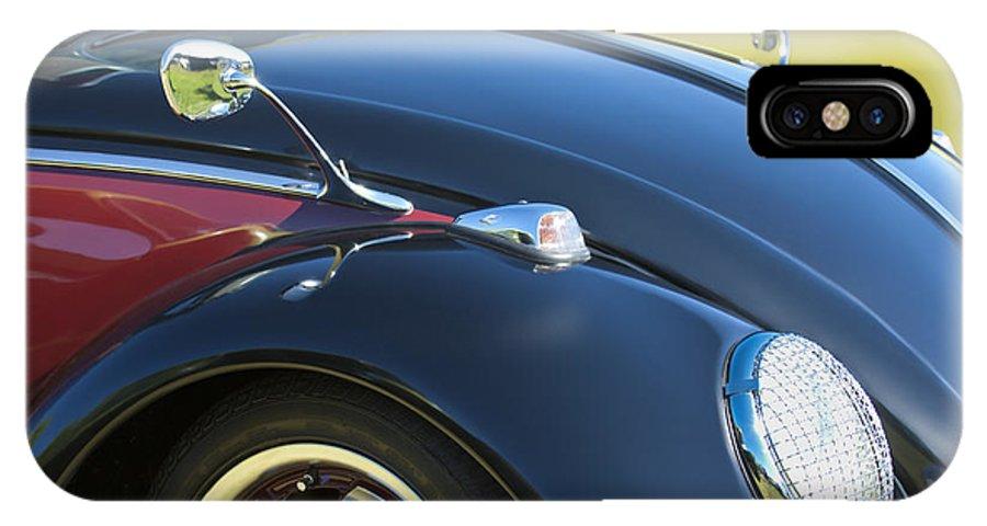 1966 Volkswagen Vw Convertible Bug IPhone X Case featuring the photograph 1966 Volkswagen Vw Convertible Bug by Jill Reger