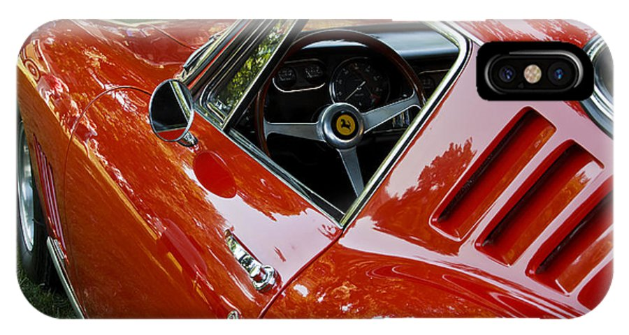 Classic IPhone X Case featuring the photograph 1967 Ferrari 275 Gtb4 Coupe by Dennis Hedberg