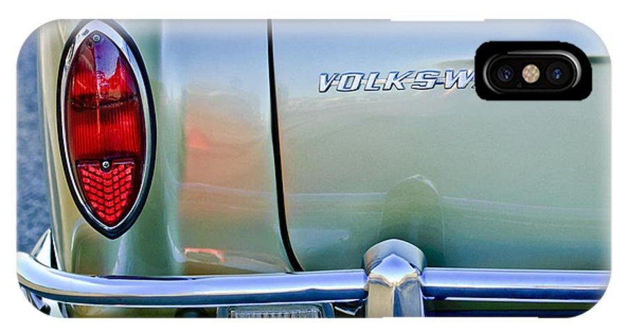 1967 Volkswagen Vw Karmann Ghia IPhone X Case featuring the photograph 1967 Volkswagen Vw Karmann Ghia Taillight Emblem by Jill Reger