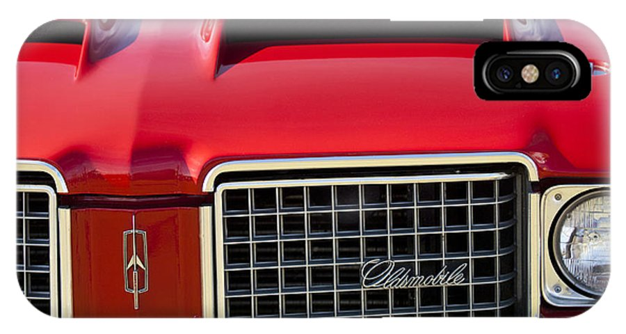 1972 Oldsmobile IPhone X Case featuring the photograph 1972 Oldsmobile Grille by Jill Reger